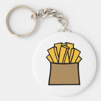 Patatas fritas llaveros personalizados