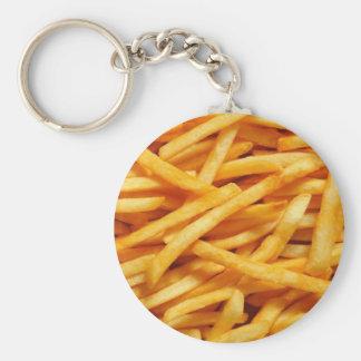 Patatas fritas llavero redondo tipo pin
