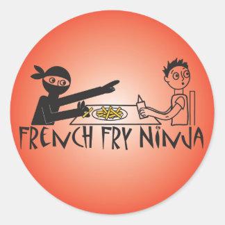 Patatas fritas Ninja Etiqueta Redonda