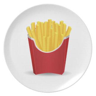 Patatas fritas plato de comida