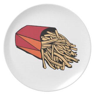 Patatas fritas platos