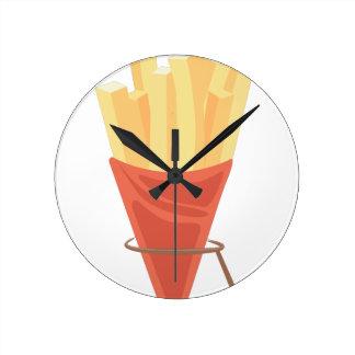 Patatas fritas reloj redondo mediano