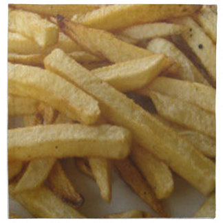 Patatas fritas servilletas de papel