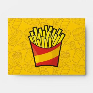 Patatas fritas sobre
