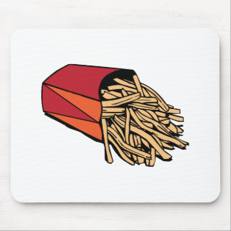 Patatas fritas alfombrillas de ratones
