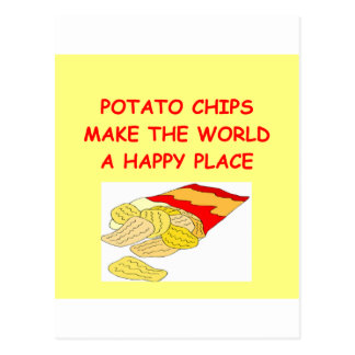 patatas fritas tarjetas postales
