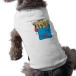 patatas fritas tontas del dibujo animado camisetas de perrito