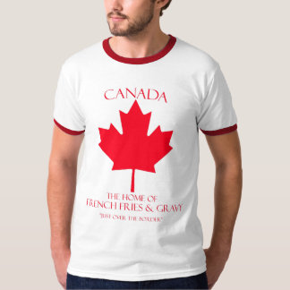 Patatas fritas y salsa de Canadá Poleras