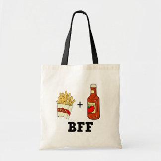 Patatas fritas y salsa de tomate BFF Bolsa Tela Barata