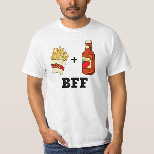 Patatas fritas y salsa de tomate BFF Playera