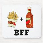 Patatas fritas y salsa de tomate BFF Alfombrillas De Ratones