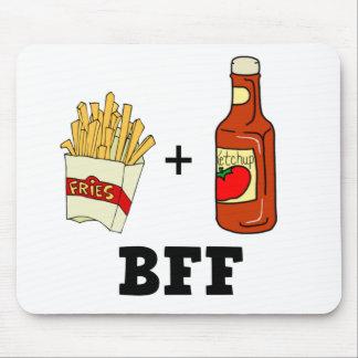 Patatas fritas y salsa de tomate BFF Mousepads