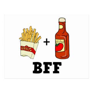 Patatas fritas y salsa de tomate BFF Postal