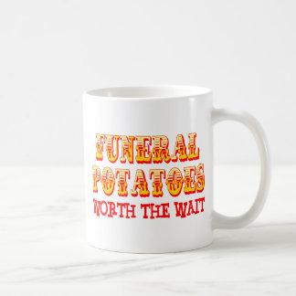 Patatas fúnebres digno de la espera taza