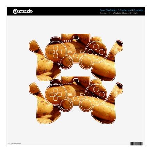 patatas mando PS3 calcomanía