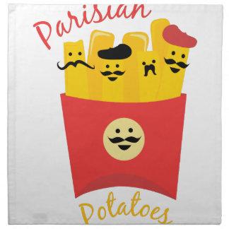 Patatas parisienses servilleta de papel