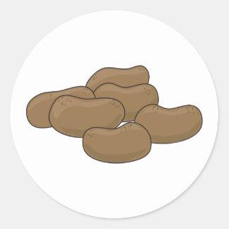 Patatas Etiqueta Redonda