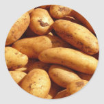 patatas pegatina redonda