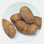 Patatas Pegatinas Redondas