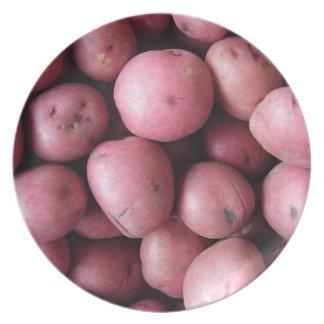 Patatas rojas plato de cena