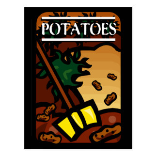 Patatas Tarjeta Postal