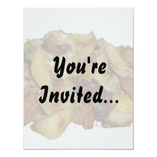 """patatas y cebollas fritas con cheese.jpg invitación 4.25"""" x 5.5"""""""