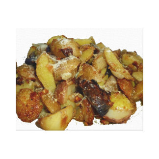 patatas y cebollas fritas con cheese.jpg lienzo envuelto para galerías
