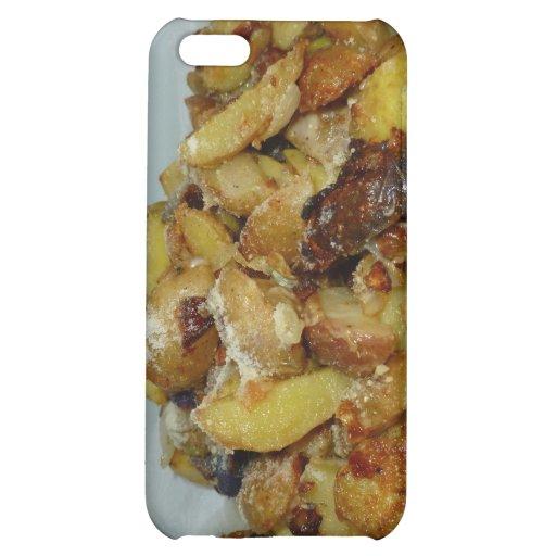 patatas y cebollas fritas con el queso 2