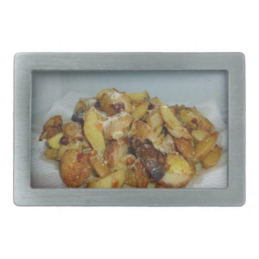 patatas y cebollas fritas con el queso 2 hebillas cinturón
