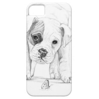 Patch A Boxer Puppy Drawing Art iPhone SE/5/5s Case