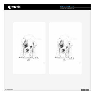 Patch A Boxer Puppy Drawing Art Skin For Kindle Fire