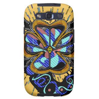 Patch and Stitch 4 Leaf Clover Samsung Galaxy SIII Case