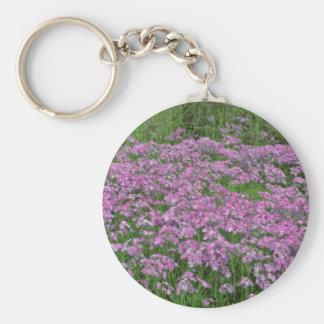Patch of wild vorbenia in East Texas Yellow flower Basic Round Button Keychain