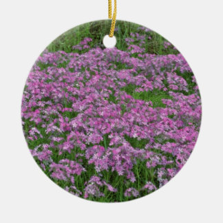 Patch of wild vorbenia in East Texas Yellow flower Double-Sided Ceramic Round Christmas Ornament