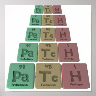 Patch-Pa-Tc-H-Protactinium-Technetium-Hydrogen.png Poster