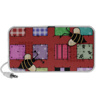 Patch Work Bumble Bees Notebook Speakers
