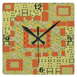patch work clock