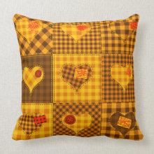 Patch-work Heart Quilt throwpillow