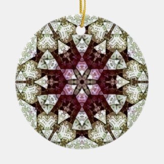 Patch work Kaleidoscope Ceramic Ornament