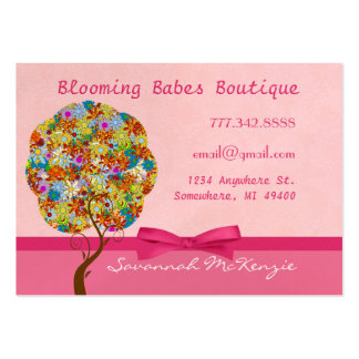 Patch Work Tree on Pink Business Cards