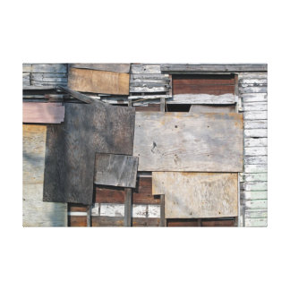 Patched Abstract Canvas Print