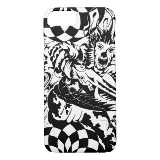 patched black n white iPhone 7 case