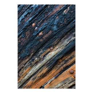 Patched boards photographic print