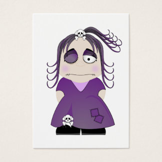 Patched Gothic Girl In Purple Business Card