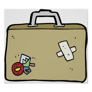 Patched Luggage Poster