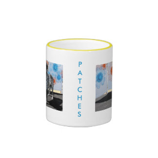 Patches - Blue Tick Pointer -1 Ringer Mug