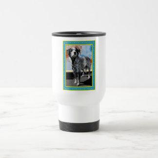 Patches - Blue Tick Pointer -1 Travel Mug