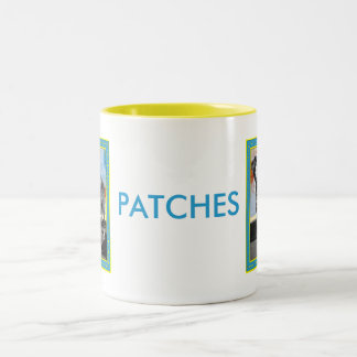 Patches - Blue Tick Pointer -1 Two-Tone Coffee Mug