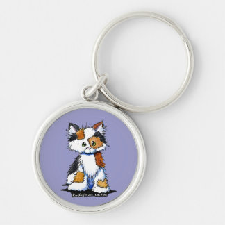 Patches Calico Kitty Round Keychain