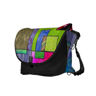 Patches of many colors messenger bag